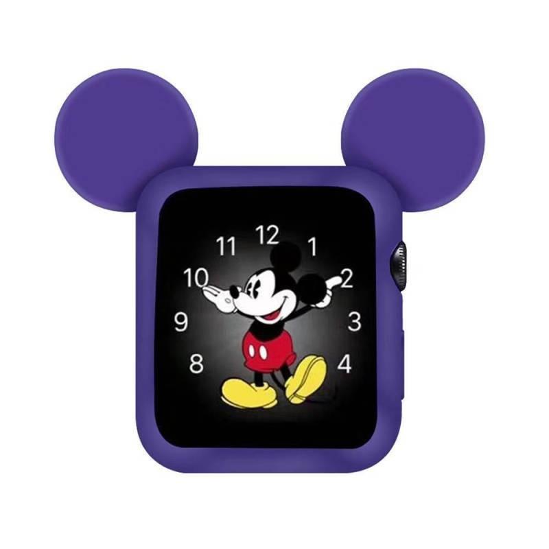 เคสซิลิโคนลายมิกกี้เมาส์สําหรับ Applewatch Series4 / 5 Generation Iwatch Cover 40 / 44mm