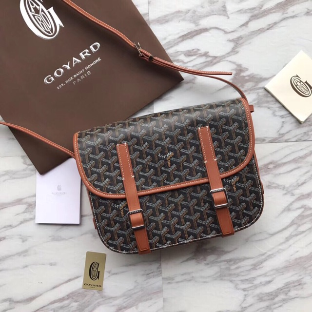 Goyard Messenger bag28cmกระเป๋าสะพายกระเป๋าแฟชั่นแบรนด์เนน กระเป๋าสะพายไหล่กระเป๋าสะพายข้าง