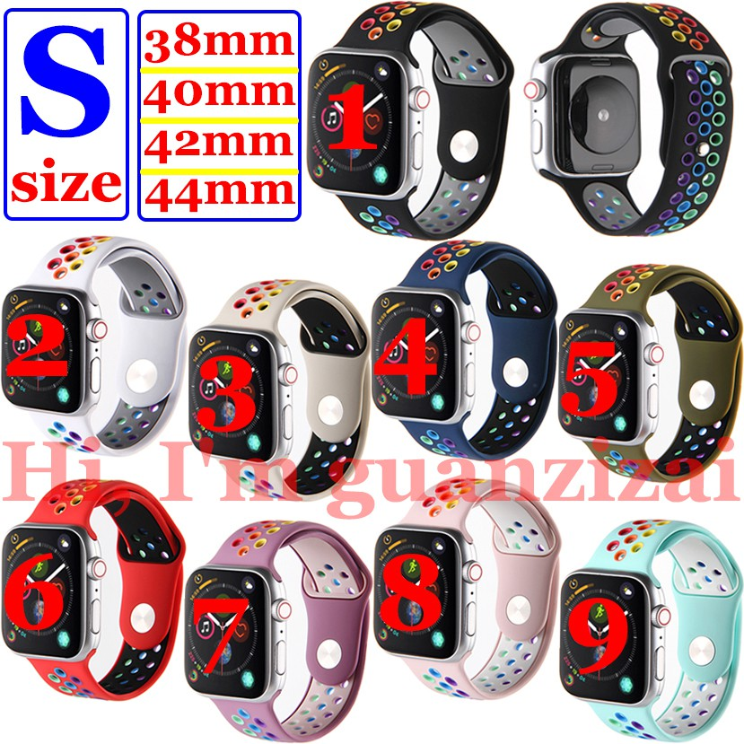 New Sport Silicone Band Strap For Apple Watch Series 1/2/3/4/5/6,,38mm/40mm/42mm/44mm All Model