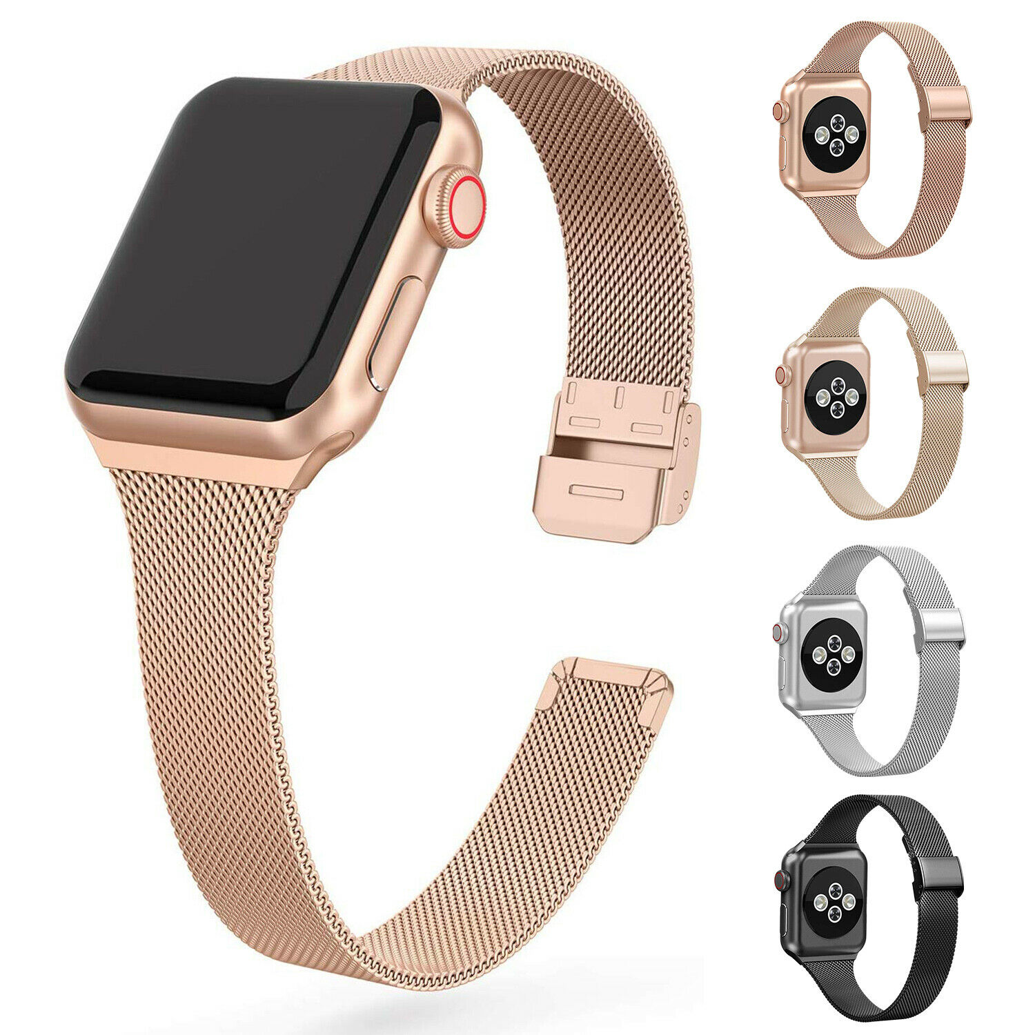 Apple Watch Milanese Band Stainless Steel iWatch Series 5/4/3/2/1 Strap  40mm 44mm