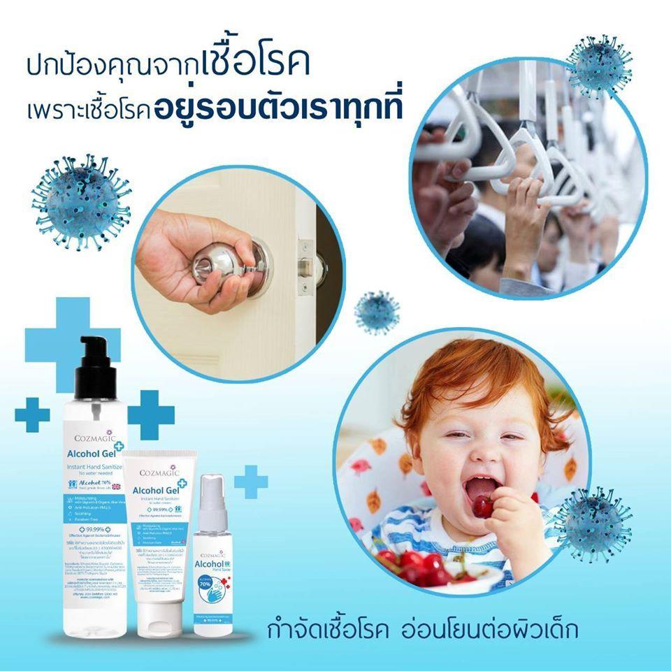 พร้อมส่ง‼️ เจลล้างมือ Alcohol Gel (Food Grade) 200 ml. สูตรเด็กใช้