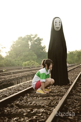 "Spirited Awaycos""Spirited Away"" No Face Man cosplayClothing Clothes Halloween Performance Costume Clothing qFFP"
