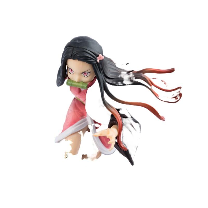 ✳▦19cm Demon Slayer Kimetsu No Yaiba Running Kamado Nezuko Statue Figure Model1