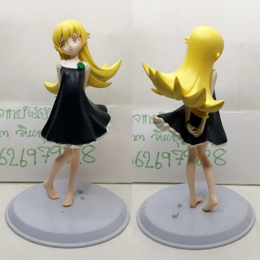 (แท้/มือสองฐานไม่ตรงรุ่น) Banpresto Monogatari Series: Tsukimonogatari: Shinobu Oshino Black Dress SQ Figure
