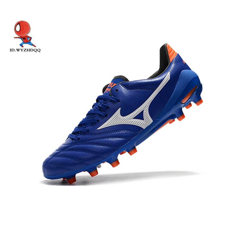 รองเท้าฟุตบอล Mizuno morelia NEO II Nissan สีฟ้าและสีขาว