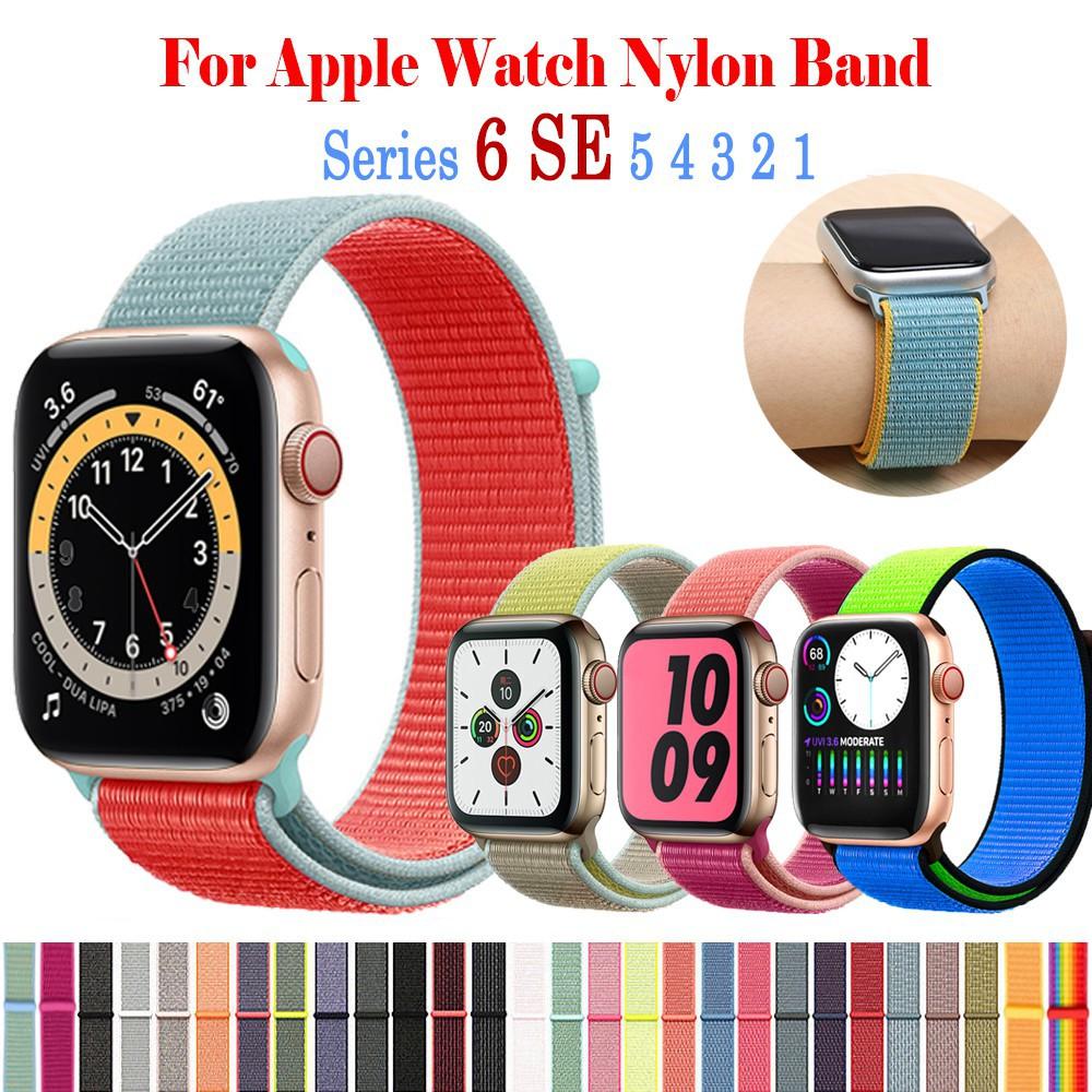 BR สายคล้องไนล่อนสำหรับ Apple Watch 38 มม. 40 มม. 42 มม. 42 มม. Apple Watch Band Series 6 SE 5 4 3 2 1