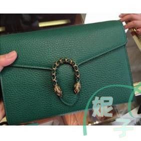 [WS]ของใหม่แท้! GUCCI Dionysus leather mini chain bag green 401