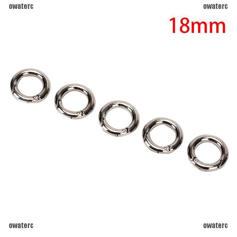 Camping Round Hiking Carabiner Circle Keyring Keychain 28mm Snap Clips Buckle