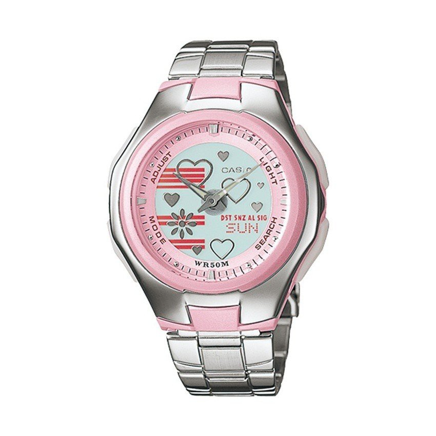 CASIO POPTONE นาฬิกาผู้หญิง สายสแตนเลส  รุ่น LCF-10D-4AVDR,LCF-10D-4A,LCF-10D
