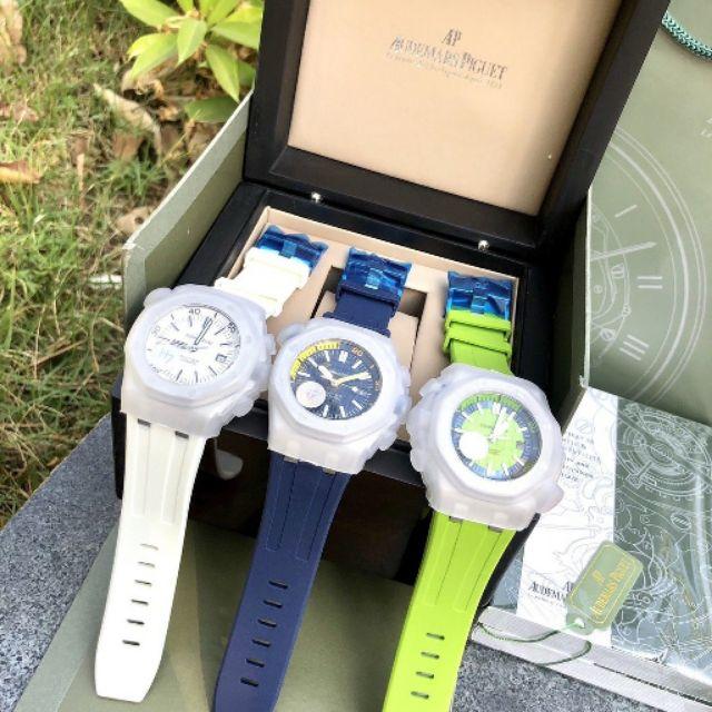 Audemars Piguet-AP Royal Oak รุ่น Offshore Series 15703 นาฬิกาข้อมือผู้ชายแบบ Super Luminous