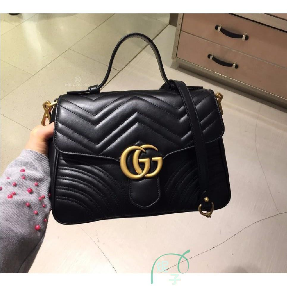 [WS]European sourcing GUCCI 498110 GG Marmont matelassé top handle bag autumn and winter new