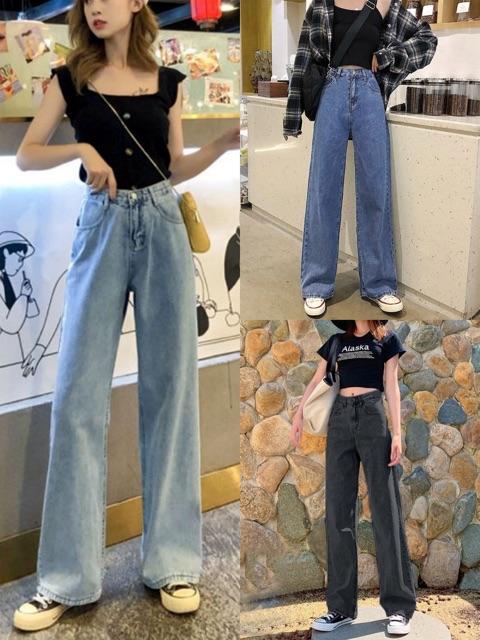 กางเกงยีนส์เอวสูง3สี??พร้อมส่ง สไตล์เกาหลี แนววินเทจ กางเกงยีนส์ขายาวหญิง661.
