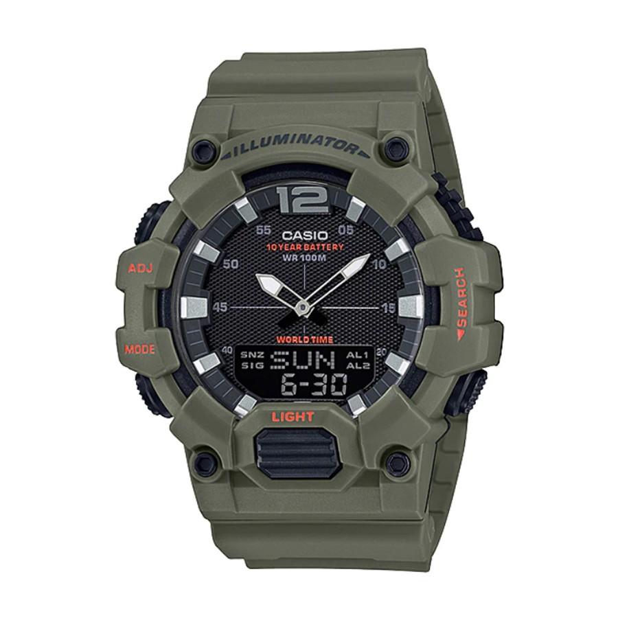 Casio Standard นาฬิกาข้อมือผู้ชาย สายเรซิน รุ่น  HDC-700,HDC-700-3A2 - สีเขียว