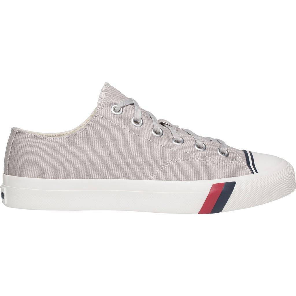 รองเท้าผ้าใบ PRO-Keds Royal Lo Classic Canvas (สีเทา)