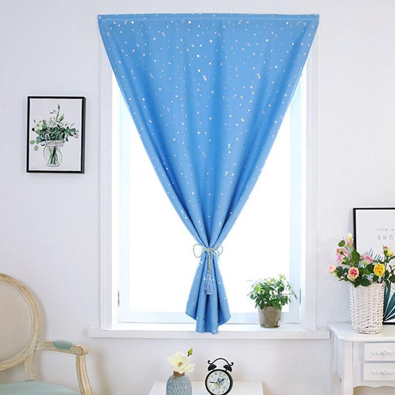 [เจาะฟรี] ผ้าม่านบังแดดสำเร็จรูปผ้าม่านหน้าต่างห้องนอนม่านเวลโคร
