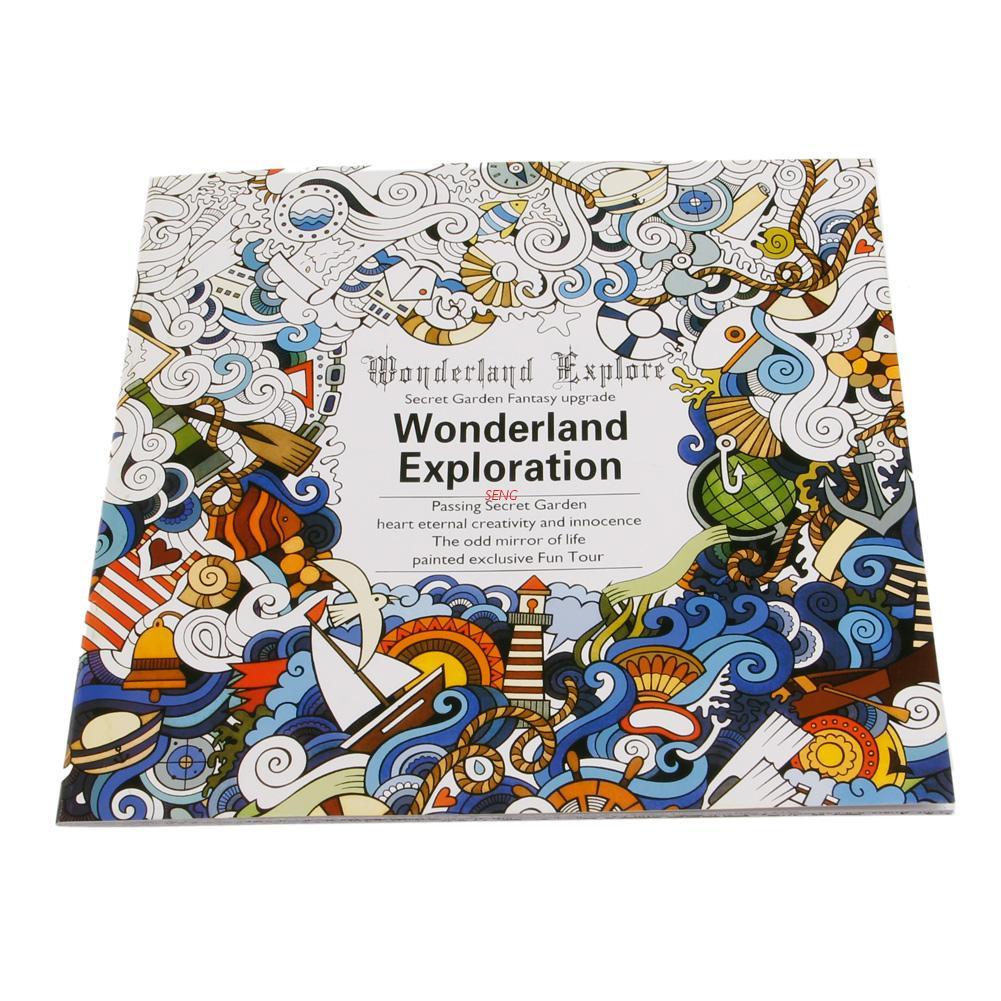 seng New English Adult Graffiti Gifts Books Wonderland Exploration Coloring Book