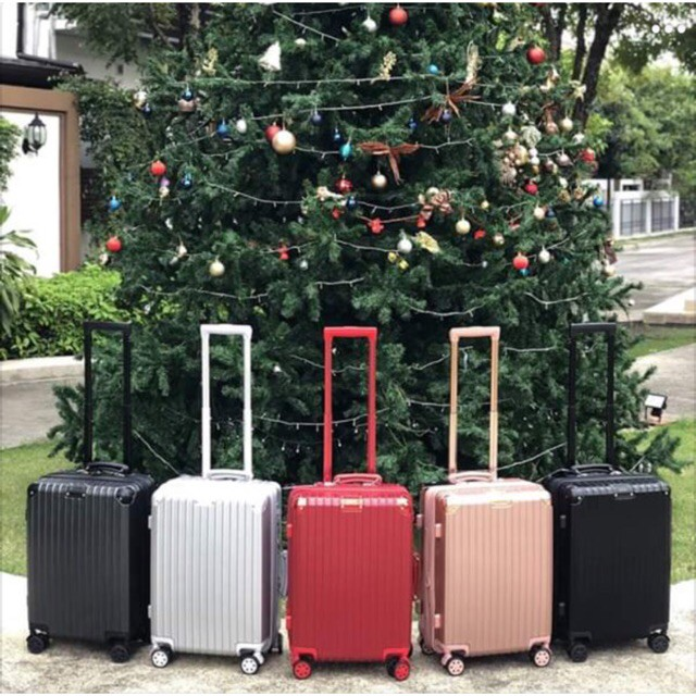 กระเป๋าเดินทางล้อลาก Luggage รุ่นวินเทจ แบบซิป️ กระเป๋าล้อลาก กระเป๋าเดินทางล้อลาก