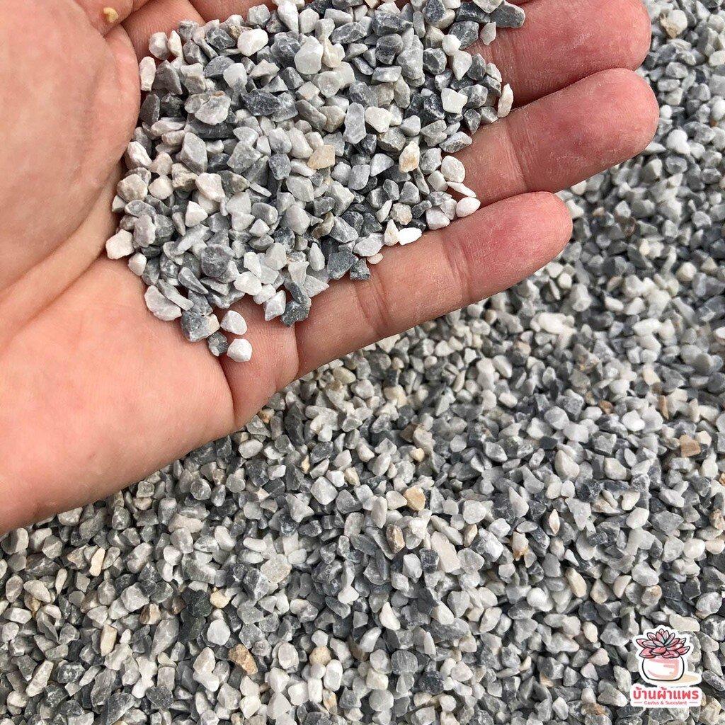 ถุงละ 1 กก. หินเกล็ดเทาเล็ก หินโรยหน้ากระถาง แคคตัส กระบองเพชร ไม้อวบน้ำ