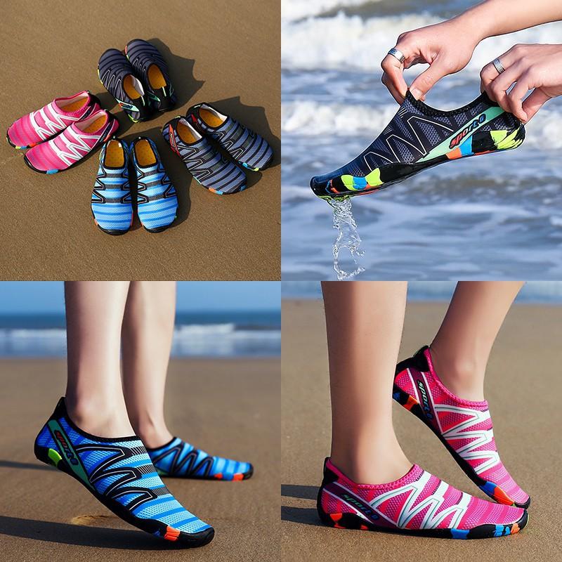 รองเท้าหนังผู้ชาย รองเท้าคัชชูผู้ชาย รองเท้าผ้าใบชาย/หญิง สำหรับใส่ว่ายน้ำ โยคะ ดำน้ำ แห้งเร็ว No.186