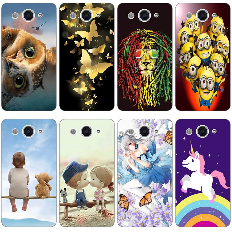 เคสโทรศัพท์ซิลิโคนพิมพ์ลายสําหรับ Huawei Y3 2017 / Y5 Lite 2017 Cro - U00 Cro - L22 U00