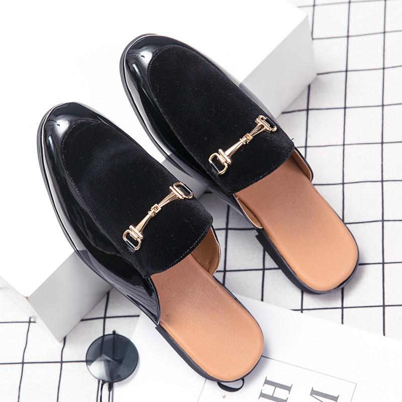 Size38~45 รองเท้าหนังเปิดส้น รองเท้าคัชชู รองเท้าหนัง รองเท้าแฟชั่น 2020 รองเท้าผู้ชาย รองเท้าคัชชูแฟชั่น