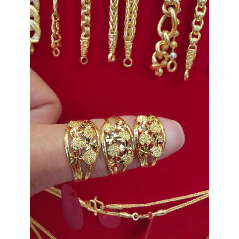 แหวนทองแท้ 96.5%  น้ำหนัก ครึ่งสลึง ไซ้ร 53,55,56,57  ราคา 4,250บาท