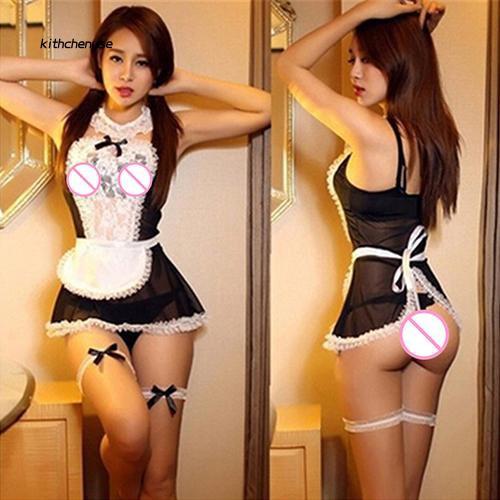 Women Maid Cosplay Costume Uniform Outfit Club Wear Fancy Dress Lingerie Sets