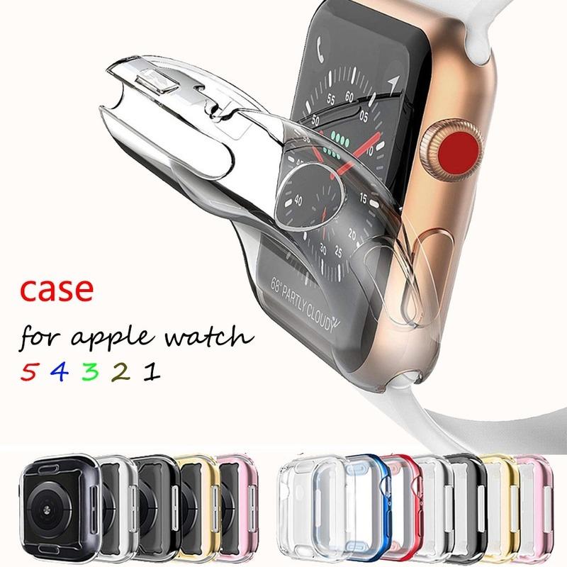 เคสป้องกันหน้าจอสําหรับ Apple Watch Series 5 4 3 2 1 Band 44 มม . / 40 มม . 42 มม . / 38 มม .