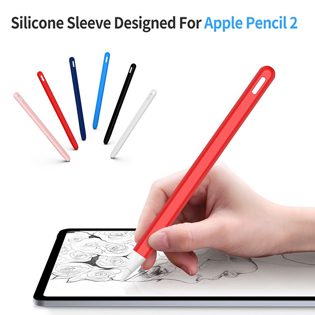 Silicone Case Cradle Stand With Cap Keeper Holder For iPad Pro Apple Pencil 2