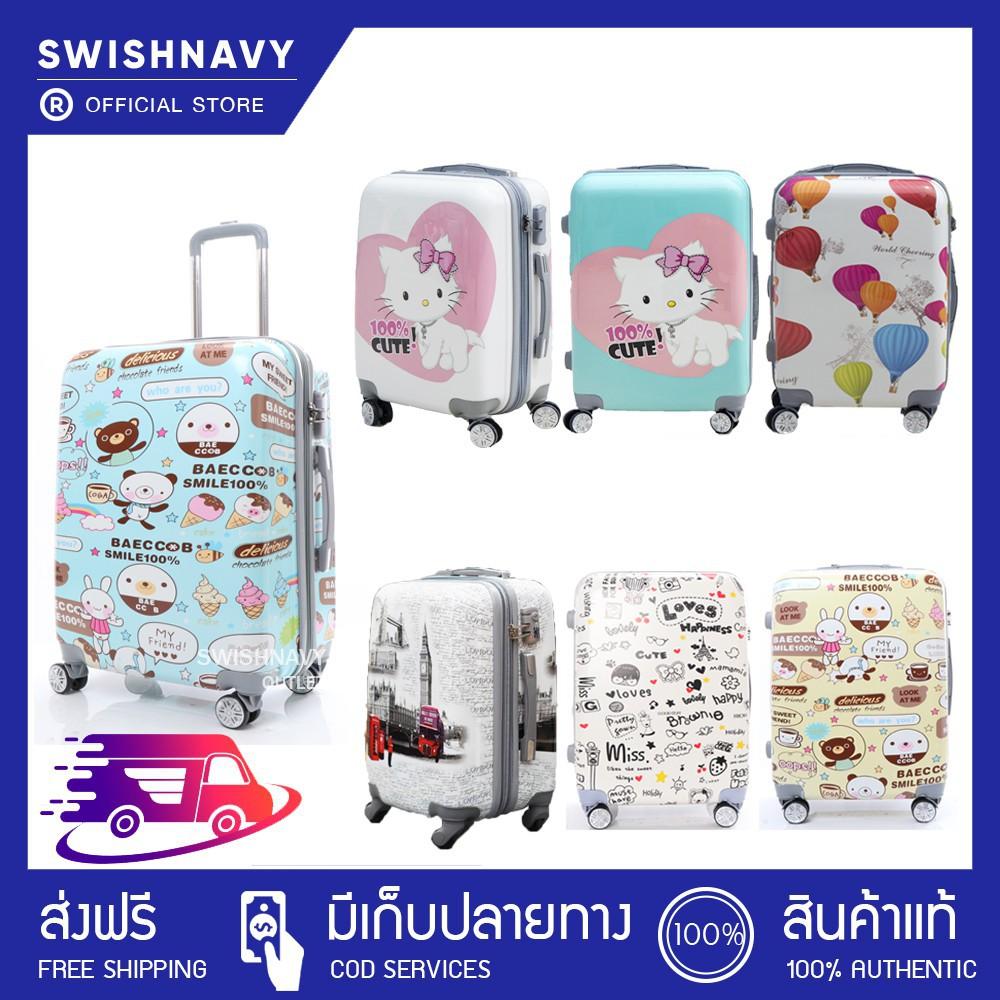 กระเป๋าเดินทาง กระเป๋าเดินทางล้อลาก POLOGY  ลายการ์ตูน 20/24/28 นิ้ว ทรง polo วัสดุ PC+ ABS กระเป๋าล้อลาก กระเป๋าเดินทาง