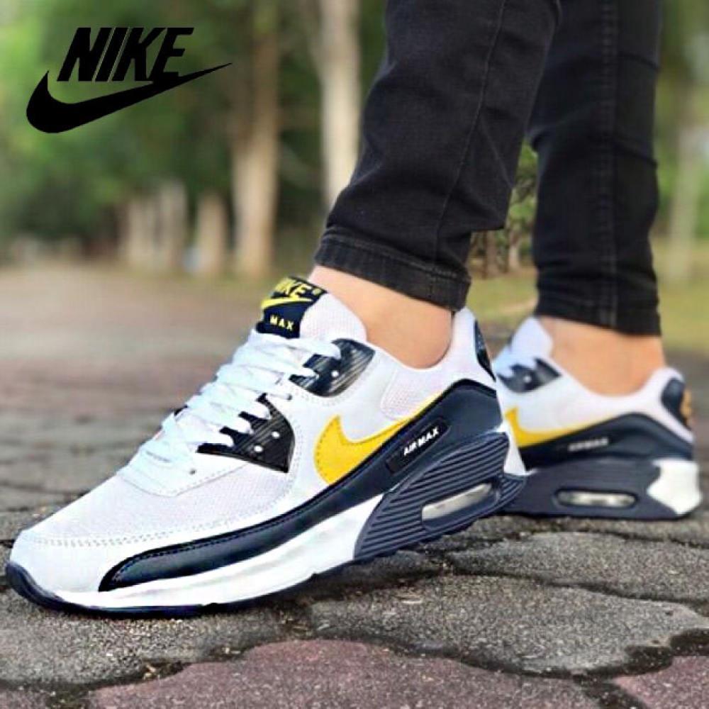 ร้าน ไนกี้ อย่างเป็นทางการในกรุงเทพ แท้ Nike Air Max 90 รองเท้าผ้าใบเบาะลม รองเท้าวิ่ง รองเท้าผู้ชาย รองเท้าสตรี ส่วนลด