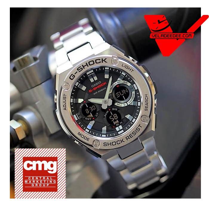 Casio G-shock G-STEEL นาฬิกาข้อมือชาย 2 ระบบ สายสแตนเลส รุ่น GST-S110D-1A