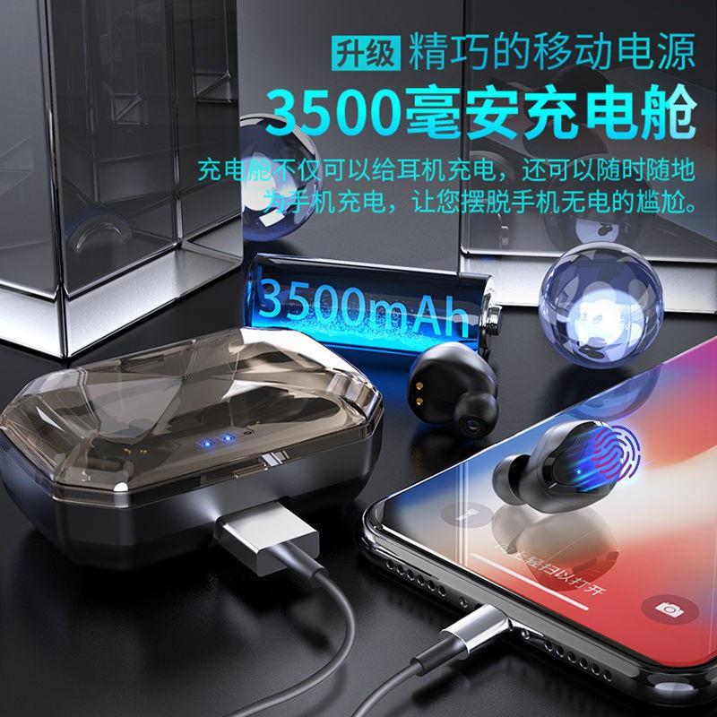 ❂℗⊙iphone x▥♘∋เสียงเกมหูฟัง Bluetooth ไร้สายที่แท้จริง ลดคุณภาพเสียงสูงวิ่งกีฬา OPPO Huawei vivo Apple Android Universal