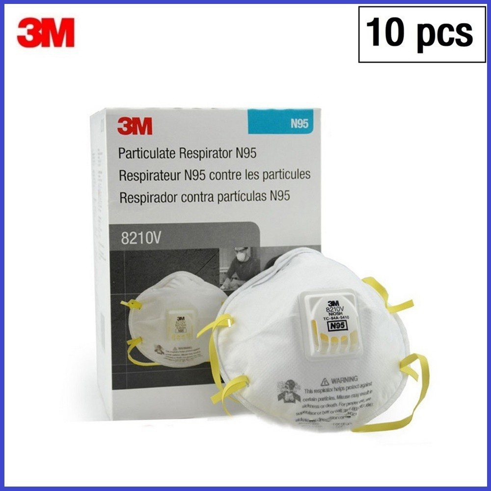 📣💖👍☄✶หน้ากาก N95 3M รุ่น 8210v ของแท้ กล่องละ 10 ชิ้น แบบมีวาล์ว