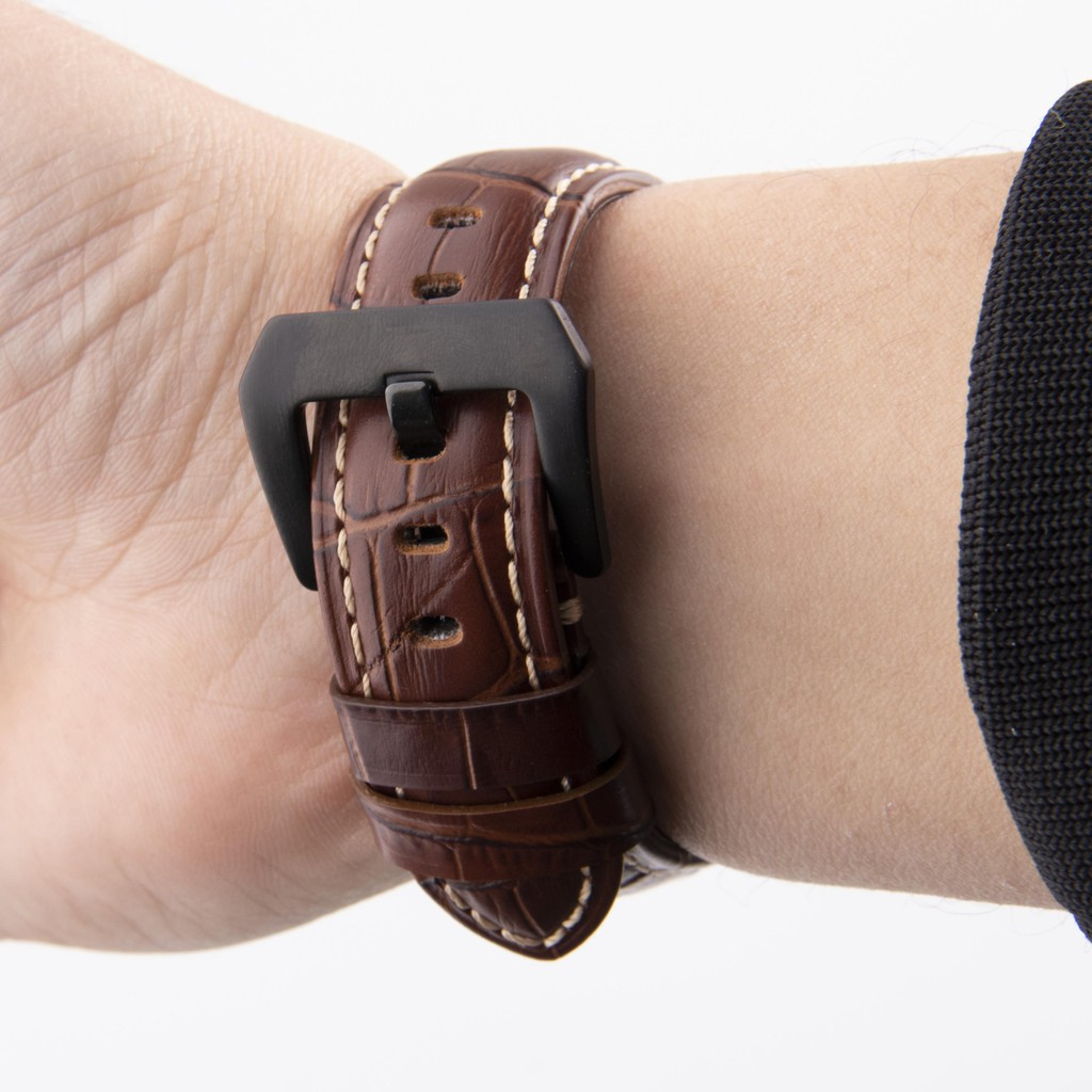 Applewatch Series 6 5 4 3 2 1 SE PANERAI หนังแท้ Genuine Leather Apple Watch 44mm 40mm 42mm 38mm สายนาฬิกา Smartwatch สา
