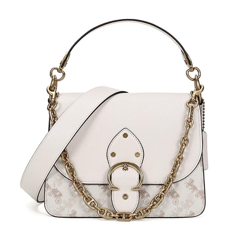กระเป๋าผู้หญิง COACH  2021ฤดูใบไม้ผลิและฤดูร้อนรุ่น หรูหรา เคาน์เตอร์ผู้หญิงBEATชุดผ้าเคลือบใบเรือHITCHไหล่แบบพกพาถุงร่อ