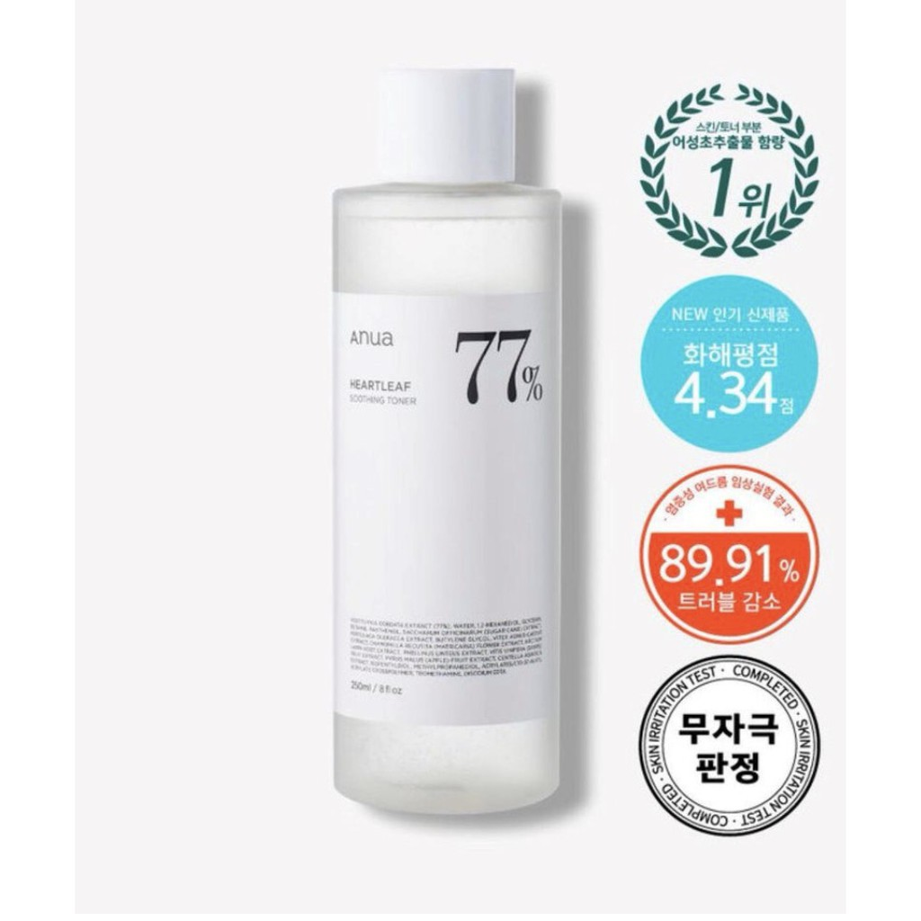 Anua Heartleaf 77% Soothing Toner 40 ml.