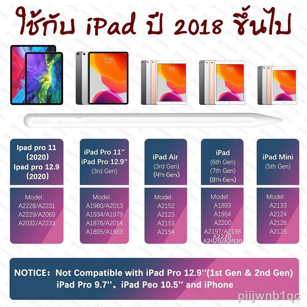 ☌⊙❐[ปากกา ipad] ปากกาไอแพด วางมือแบบ Apple Pencil stylus ipad gen7,8 2019 applepencil 10.2 9.7 2018 Air 3 Pro 11 2020 12