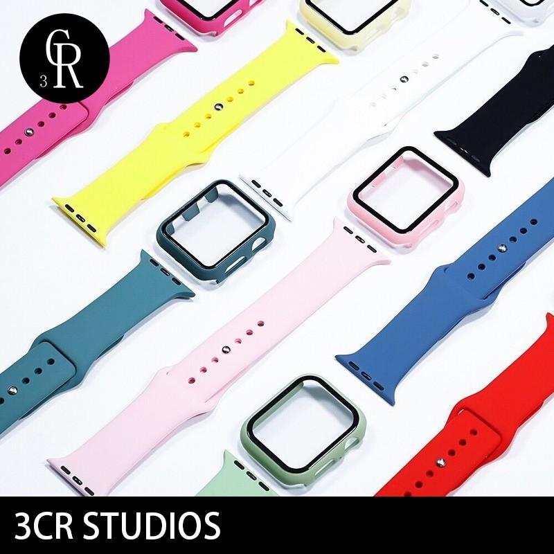 สาย applewatch สายนาฬิกา applewatch ( Case + Strap ) สายนาฬิกาข้อมือซิลิโคนสําหรับ Apple Watch Series S1 S2 S3 S4 S5 S6