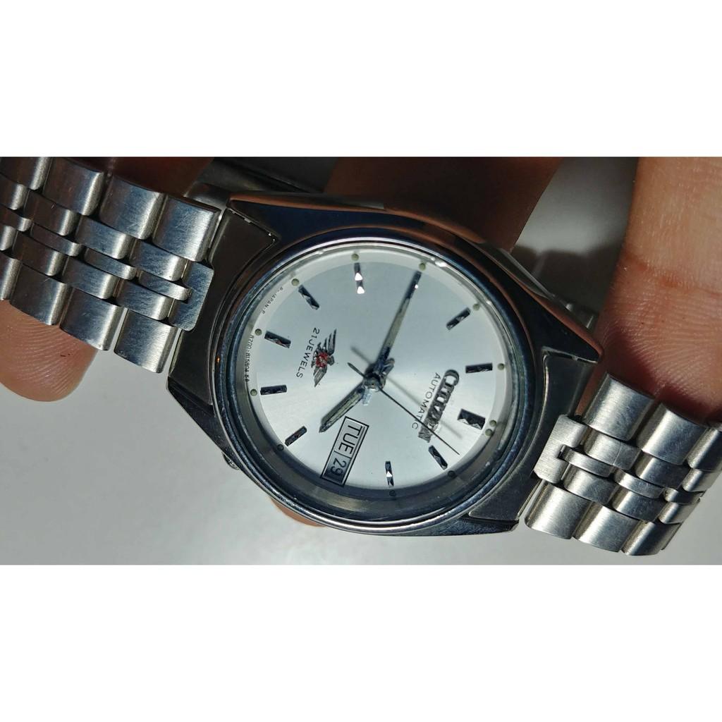 ขาย นาฬิกา Vintage ของแท้ มือสอง สภาพสวย Citizen Seven AutomaticWatch Japan Day Date White Dial 33mm