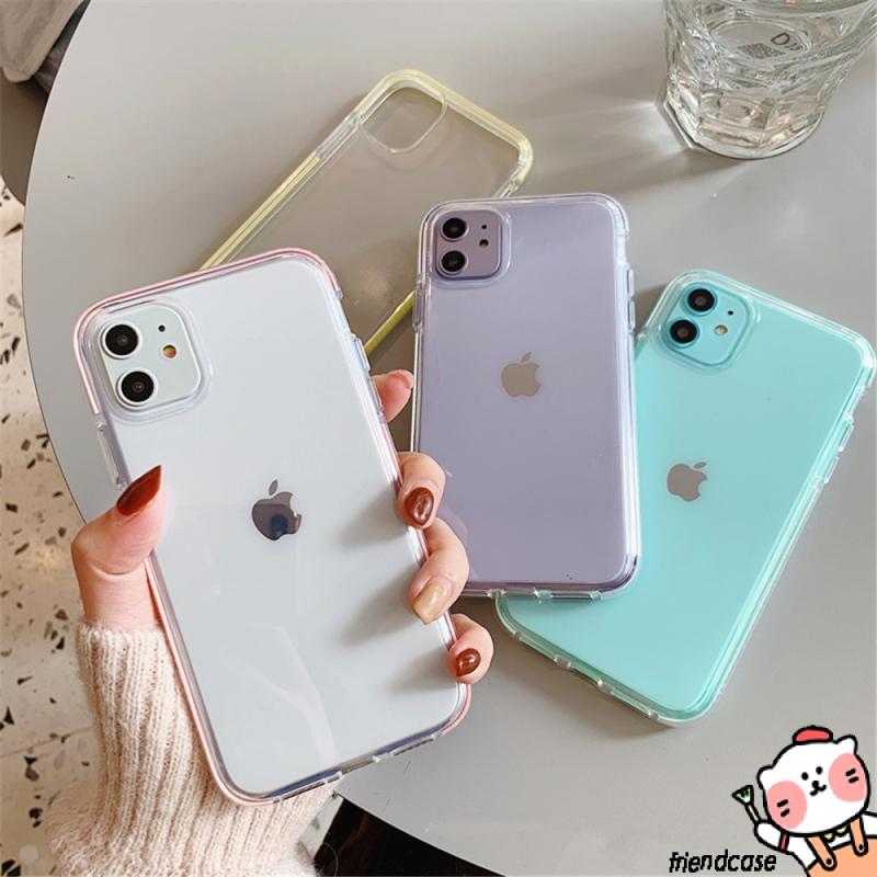 เคสโทรศัพท์มือถือ Tpu สองสีสําหรับ Iphone 11 12 Pro Max Iphone 6 S 8 7 Plus Se 2020