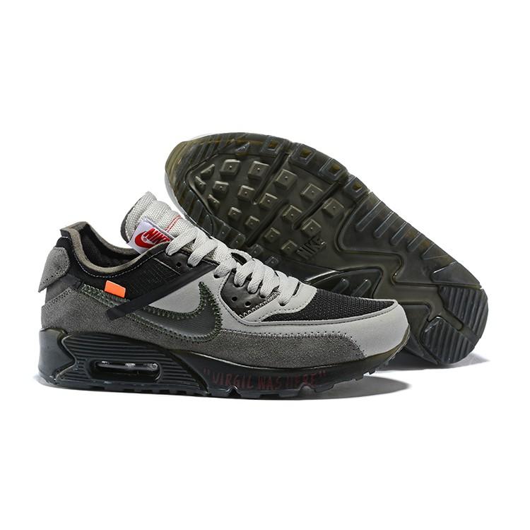 Off White Air Max 90 Grey Dark Grey Air Max 90 men sneakers running shoes