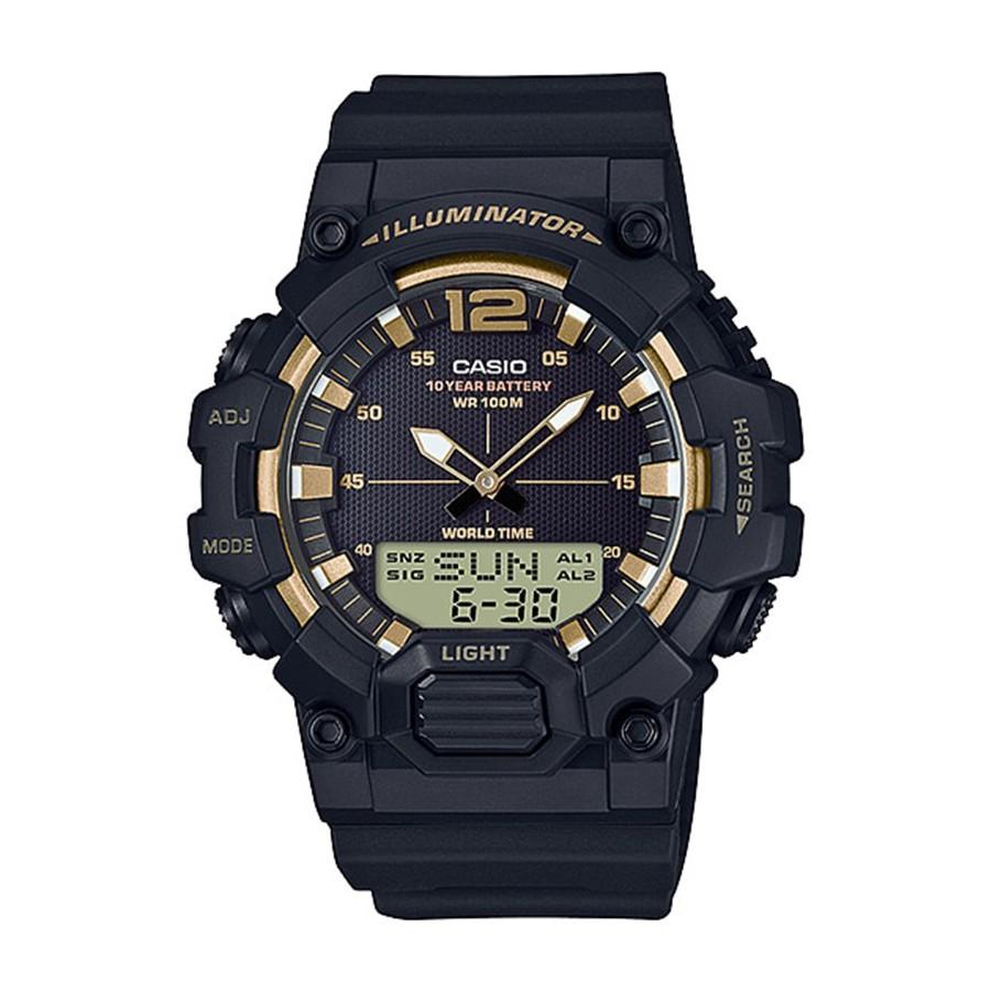 Casio Standard นาฬิกาข้อมือผู้ชาย สายเรซิน รุ่น  HDC-700,HDC-700-9A,HDC-700-9AV - สีดำ