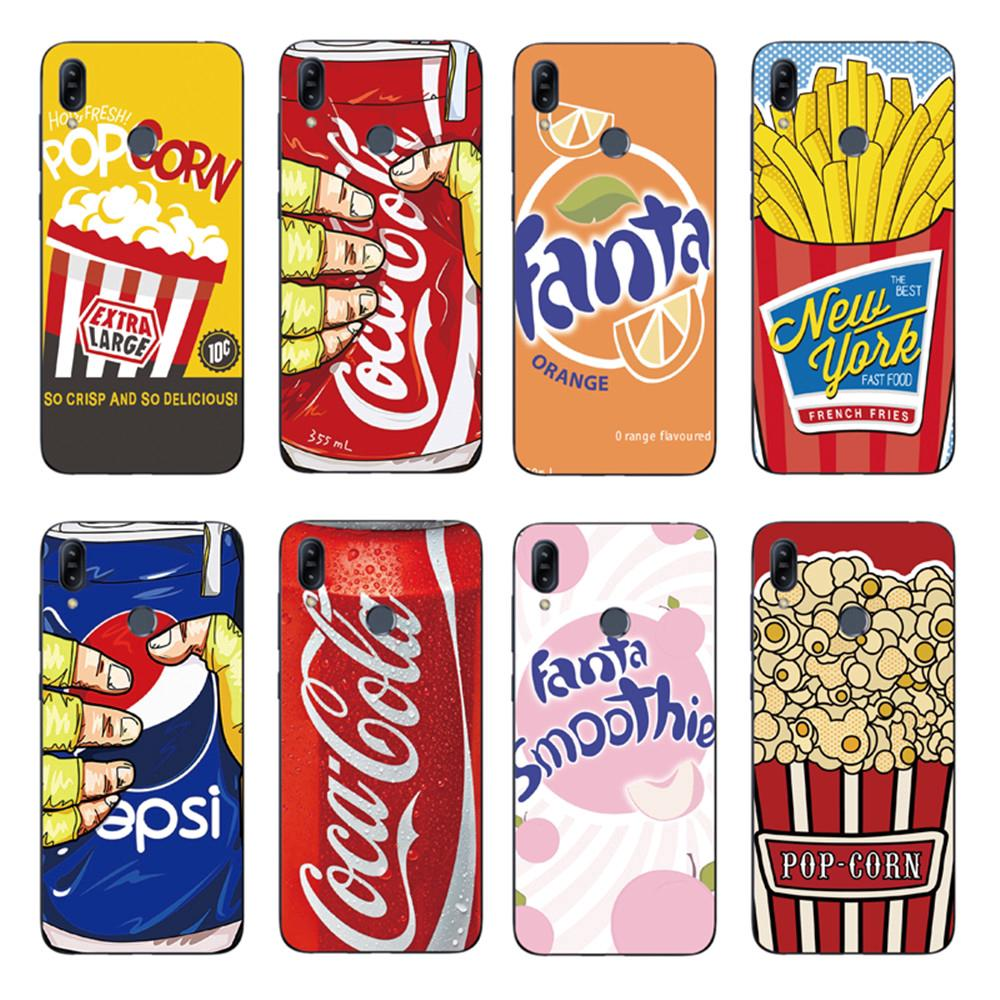Review Cartoon Cola Fries Back Cover Asus Zenfone Max Pro M2 ZB631KL / ZB633KL Soft TPU Case