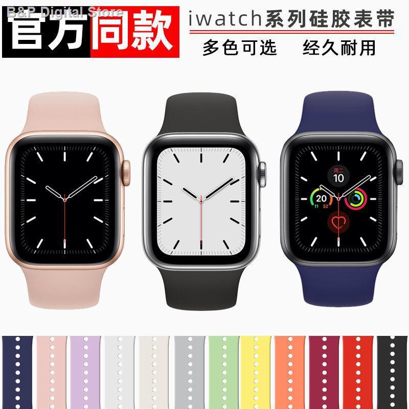 【อุปกรณ์เสริมของ applewatch】✐ใช้ได้กับสาย Applewatch se ซิลิโคน iwatch 6/5/4 ในนามของสาย 38/42/40/44
