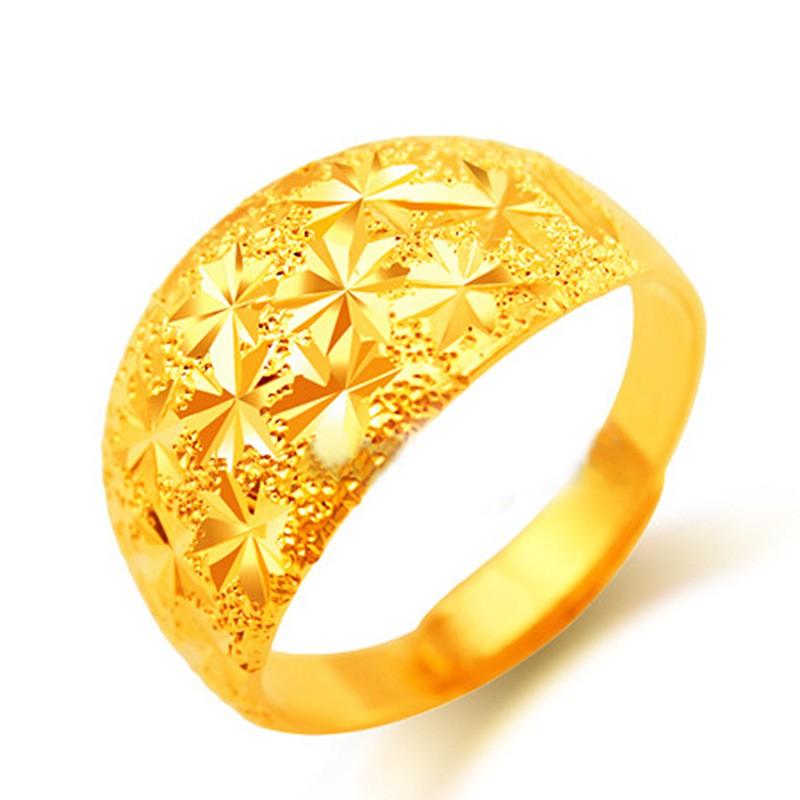 ขนาดใหญ่พิเศษกระพริบทรายแหวนเต็มไปด้วยดวงดาวราคาถูกไฟแหวนทองเครื่องประดับแหวนทอง