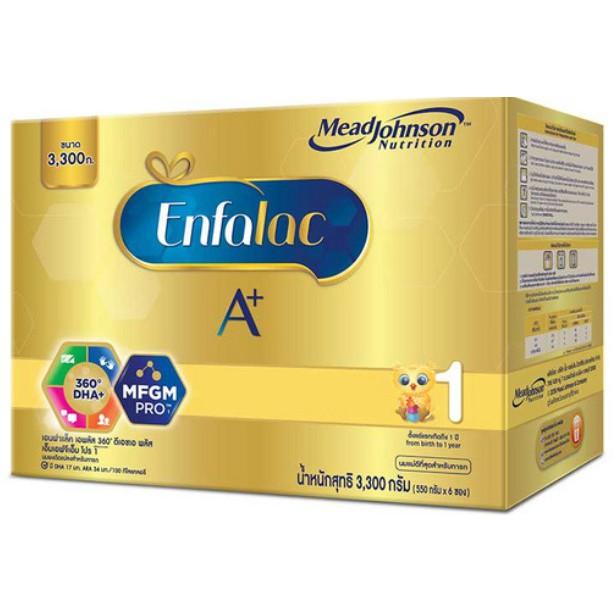 Enfalac A+ เอนฟาแล็ค เอพลัส สูตร 1 นมผง สำหรับ ทารก เด็กแรกเกิด เด็กเล็ก