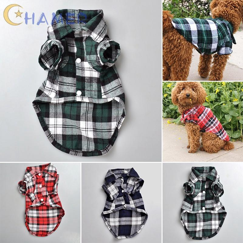 XL Pet Sleepwear Shirt Dog Pajamas Soft Puppy Cat Clothes Dogs Clothing Pet Outfits with Lapel and Button Design