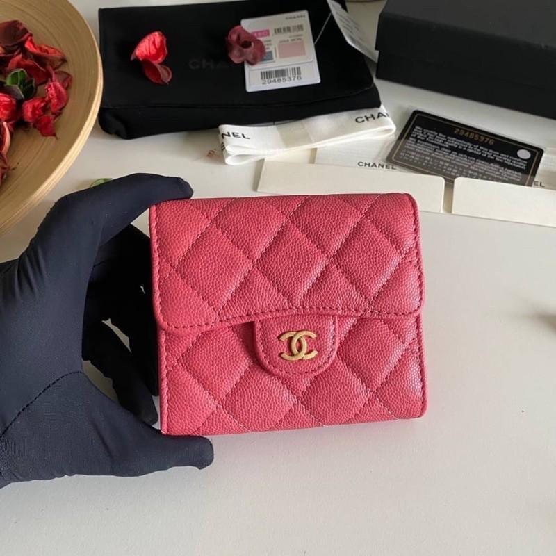 Chanel Classic small wallet cavier skin Original เข้าแล้วค่ะกระเป๋าสตางค์ สีที่ถูกโฉลก