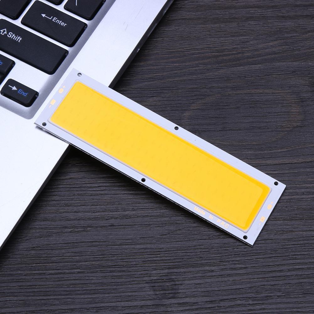 DISKON12V 10W ซังแผงไฟ LED Strip ไฟโคมไฟหลอดไฟ 120X36mm อบอุ่นสีขาว / ขาว Vrmq